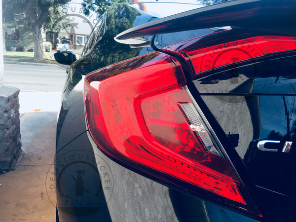 Red Tail Light Insert Overlays (Fits For: 2016-2020 Honda Civic Sedan)