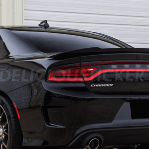 Red Tail Light Inner Overlays w/ Reverse Cut (Fits For: 2015-2020 Dodge Charger)