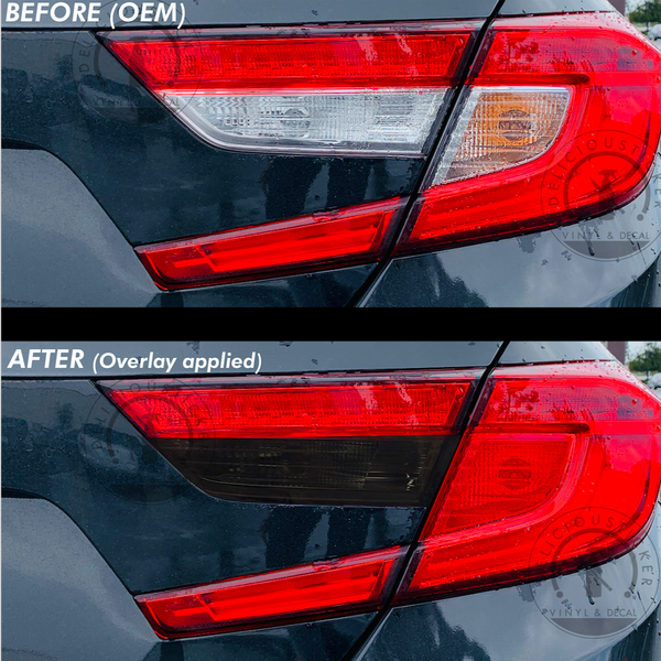 Tail Light Inner Smoked Reverse Red Blinker Overlays (Fits For: 2018+ Honda Accord)