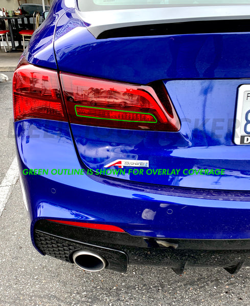 Red Reverse Insert Tail Light Overlay (Fits For: 2015-2020 TLX)
