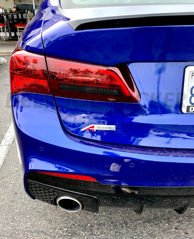 Smoked Reverse Insert Tail Light Overlay (Fits For: 2015-2020 TLX)