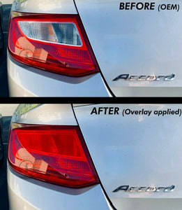 Red Tail Light Inner Overlays (Fits For: 2013-2015 Accord Coupe)