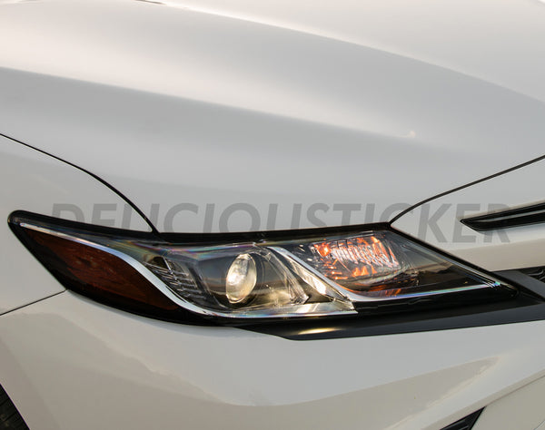 Smoked Amber Section Headlight Overlays (Fits For: 2018 + Camry)