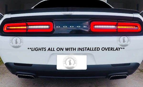 Smoked Tail Light Inner Overlays (Fits For: 2015-2020 Challenger)