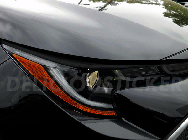 Smoked Front Eyelid Head Light Insert (Fits For: 2019 + Corolla)