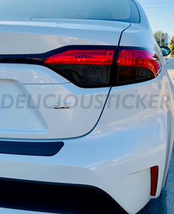 Smoked Tail Light Inner Overlays (Fits For: 2020 + Corolla SEDAN)