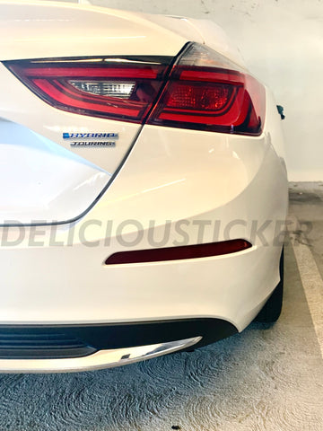Smoked Rear Bumper Reflectors Insert Overlays (Fits For: 2018+ Honda Insight)