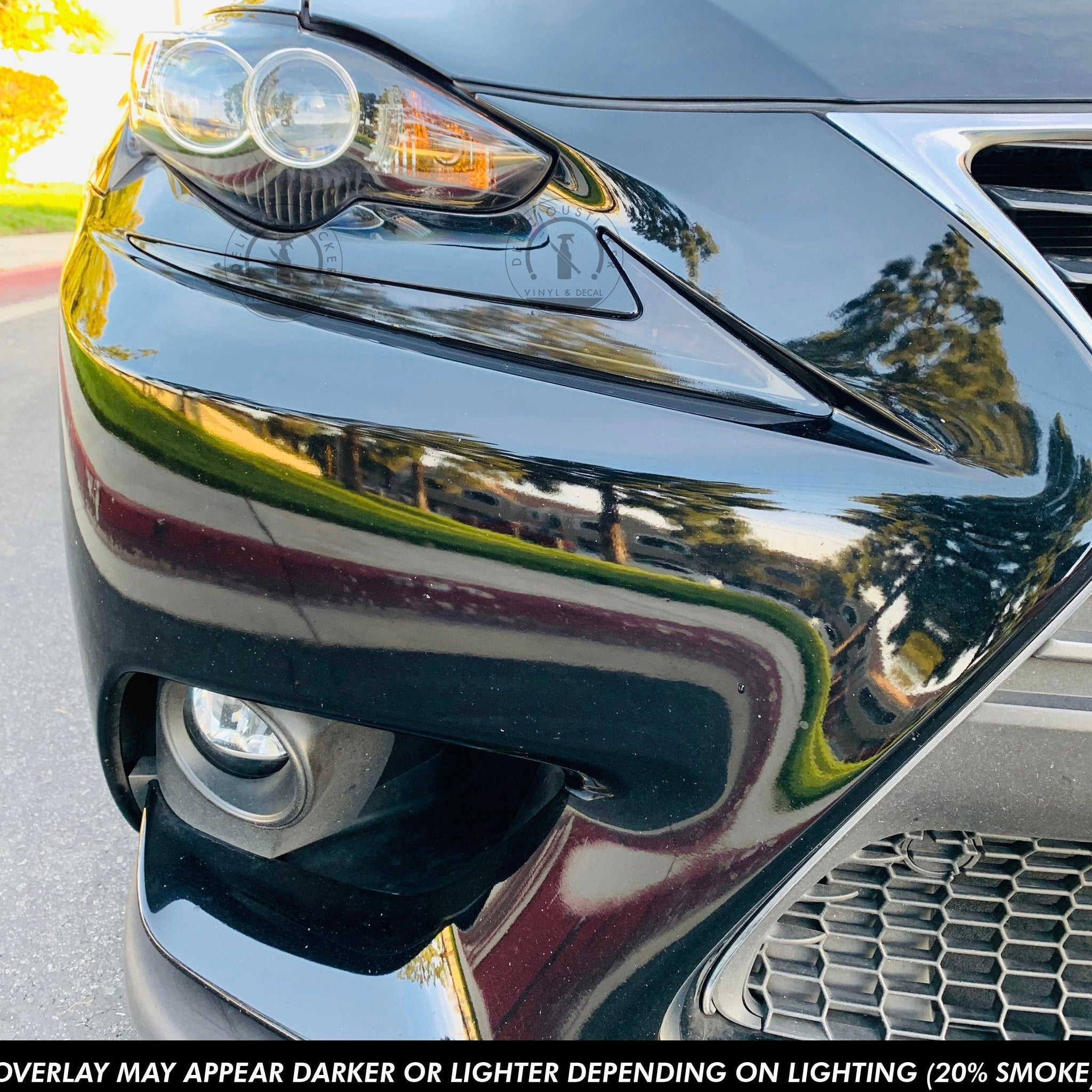 DRL Day Light Running Lights Overlay Film (Fits For: 2014-2016 Lexus IS)