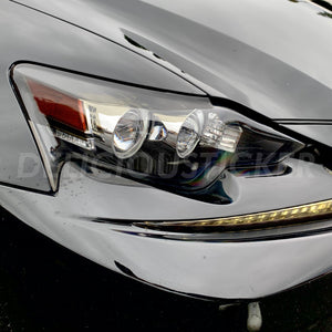 Smoked Eyelid Front Headlight Overlay Film (Fits For: 2014-2016 Lexus IS)