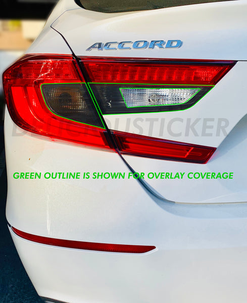 Smoked OE REVERSE CUT Tail Light Inner Overlays (Fits For: 2018+ Honda Accord)