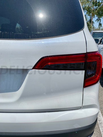 Smoked Tail Light Inner Overlays (Fits For: 2019+ Pilot)