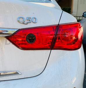Smoked Reverse Insert Tail Light Overlay (Fits For: 2015-2017 Q50)