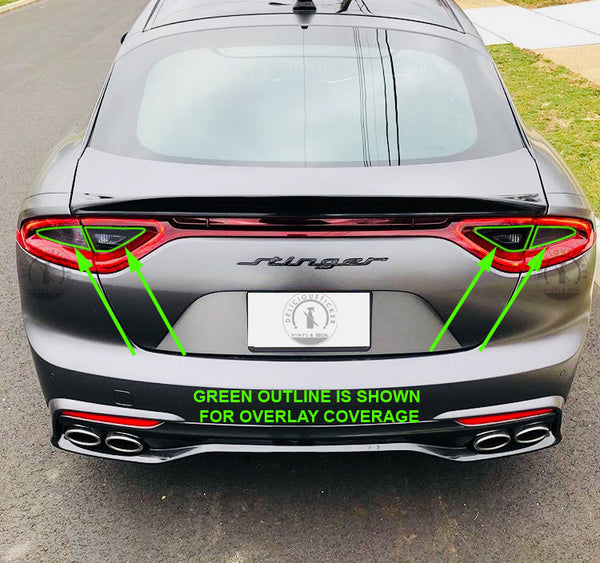 Smoked Tail Light Inner Overlays (Fits For: 2018+ Kia Stinger)