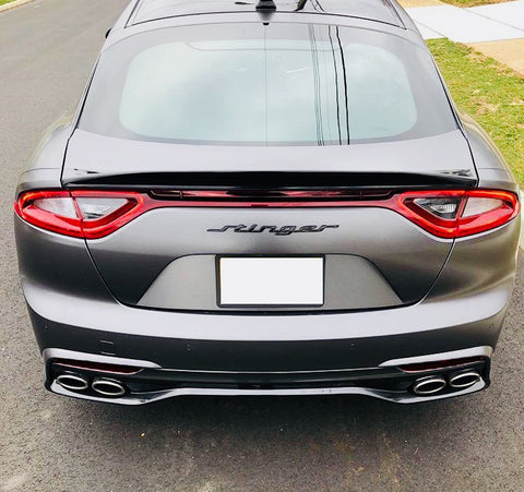 Smoked Rear Reflectors Insert Overlays (Fits For: 2018+ Kia Stinger) GT ONLY