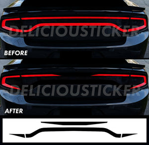 Black RaceTrack Tail Light Decal Overlays STYLE I (Fits For: 2015-2021 Dodge Charger)