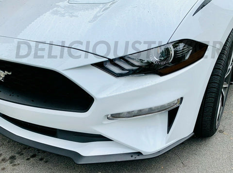 Smoked C-Eyelid Headlight Overlays (Fits For: 2018 + Mustang)