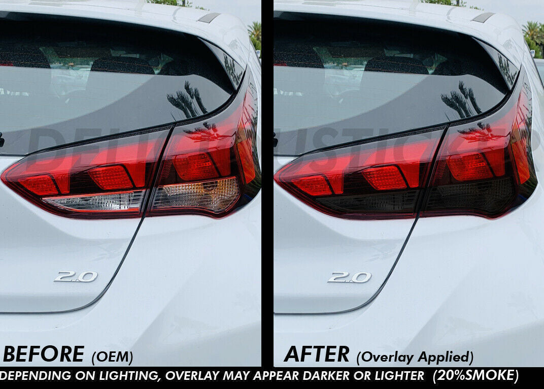 Smoked Tail Light Inner Overlays (Fits For: 2019 + Veloster)