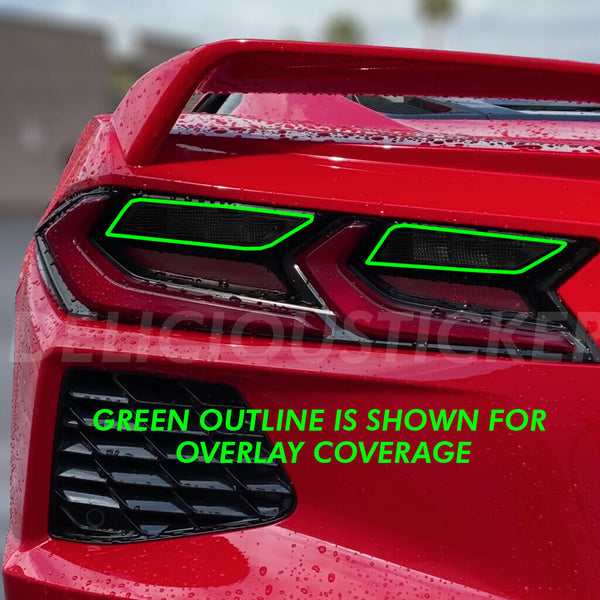 Smoked Tail Light Inner Overlays (Fits For: 2020+ Chevrolet Corvette C8)