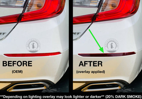 Smoked Rear Bumper Reflectors Insert Overlays (Fits For: 2018+ Honda Accord)