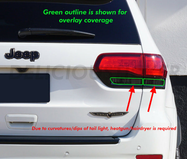 Reverse Smoked Tail Light Inner Overlays (Fits For: 2014-2020 Grand Cherokee)