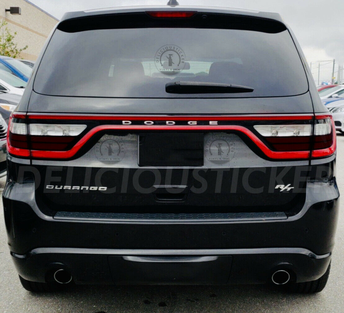 Smoked Tail Light Reflector Bottom Overlays (Fits For: 2014-2020 Dodge Durango)