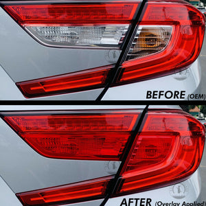 Red Tail Light Insert Overlays Full RED (Fits For: 2018+ Honda Accord)