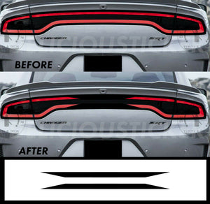 Black RaceTrack Tail Light Decal Overlays STYLE C (Fits For: 2015-2021 Dodge Charger)