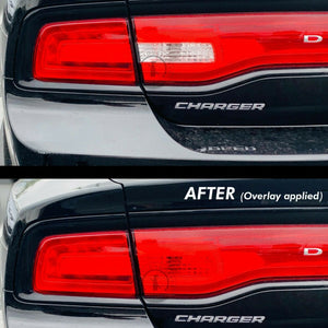 Red REVERSE Tail Light Overlays (Fits For: 2011-2014 Dodge Charger)