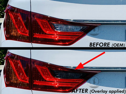 Smoked Reverse Insert Tail Light Overlay (Fits For: 2013-2015 Lexus GS350)