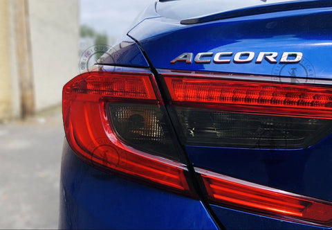 Smoked Tail Light Inner Overlays (Fits For: 2018+ Honda Accord)
