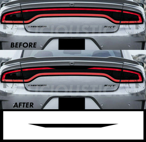 Black RaceTrack Tail Light Decal Overlays STYLE D (Fits For: 2015-2021 Dodge Charger)