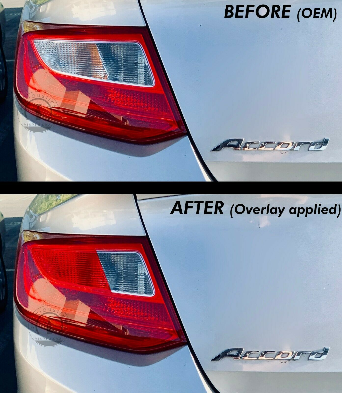 Red Indicator Tail Light Inner Overlays (Fits For: 2013-2015 Accord Coupe)