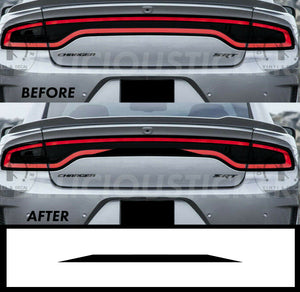 Black RaceTrack Tail Light Decal Overlays STYLE E (Fits For: 2015-2021 Dodge Charger)