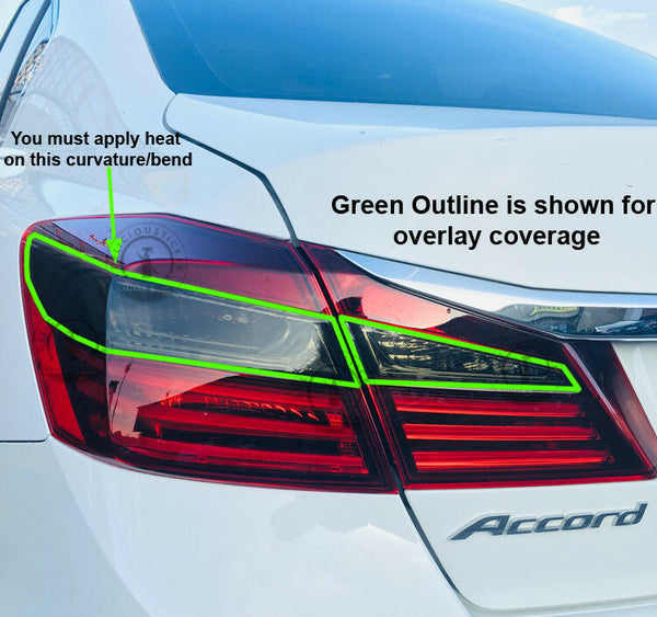 Smoked Tail Light Inner Overlays (Fits For: 2016-2017 Honda Accord)