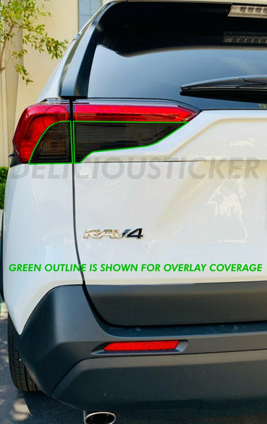 Smoked Tail Light Inner Overlays (Fits For: 2019 + RAV4)