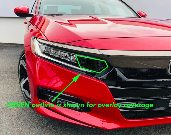 Smoked Front Head Light HIGH BEAM Section Insert (Fits For: 2018 + Honda Accord)
