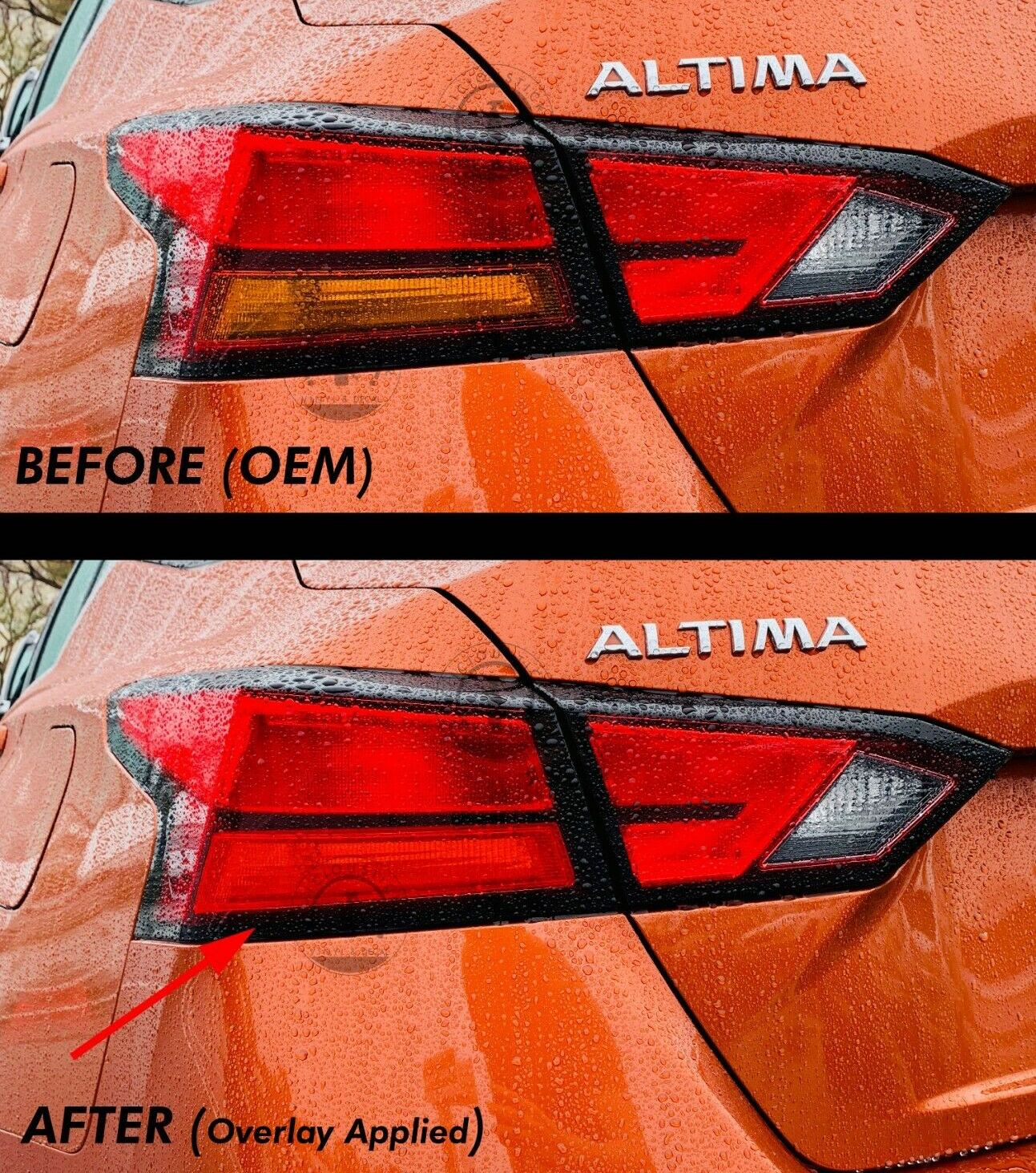 Red Signal Blinker Insert Tail Light Overlay (Fits For: 2019+ Altima)
