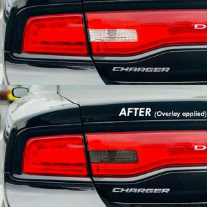 Smoked REVERSE Tail Light Overlays (Fits For: 2011-2014 Dodge Charger)