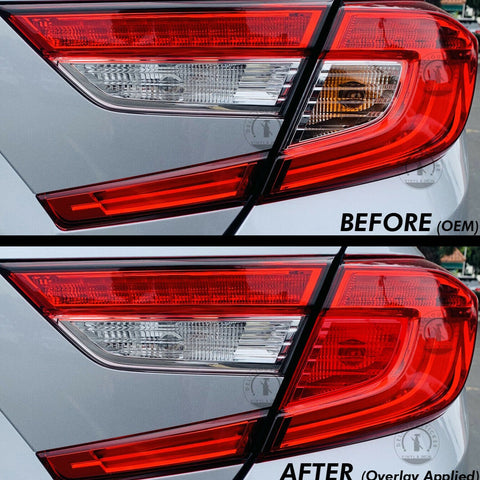 Red Signal Blinker Insert Tail Light Overlay (Fits For: 2018+ Honda Accord)
