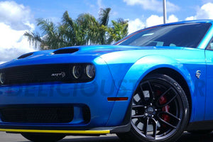WIDEBODY ONLY Smoked Side Markers / Rear Bumper Reflectors (Fits For: 2015-2020 Challenger)