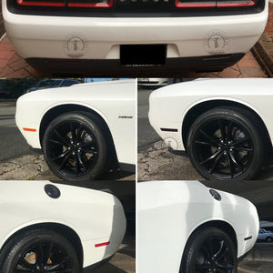 Smoked Side Markers / Rear Bumper Reflectors (Fits For: 2015-2020 Challenger)