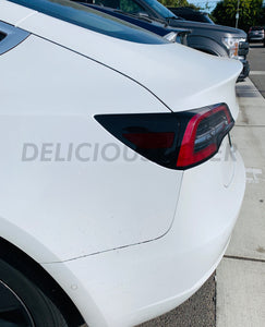 Smoked Rear Side Marker Overlays (Fits For: Tesla Model 3)