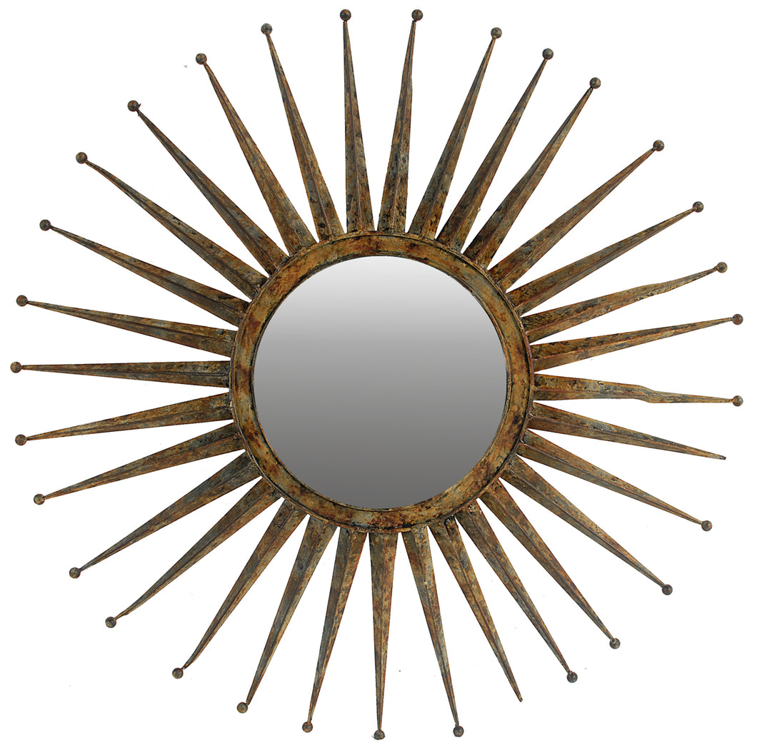 SUN RAY MIRROR GOLD BIG