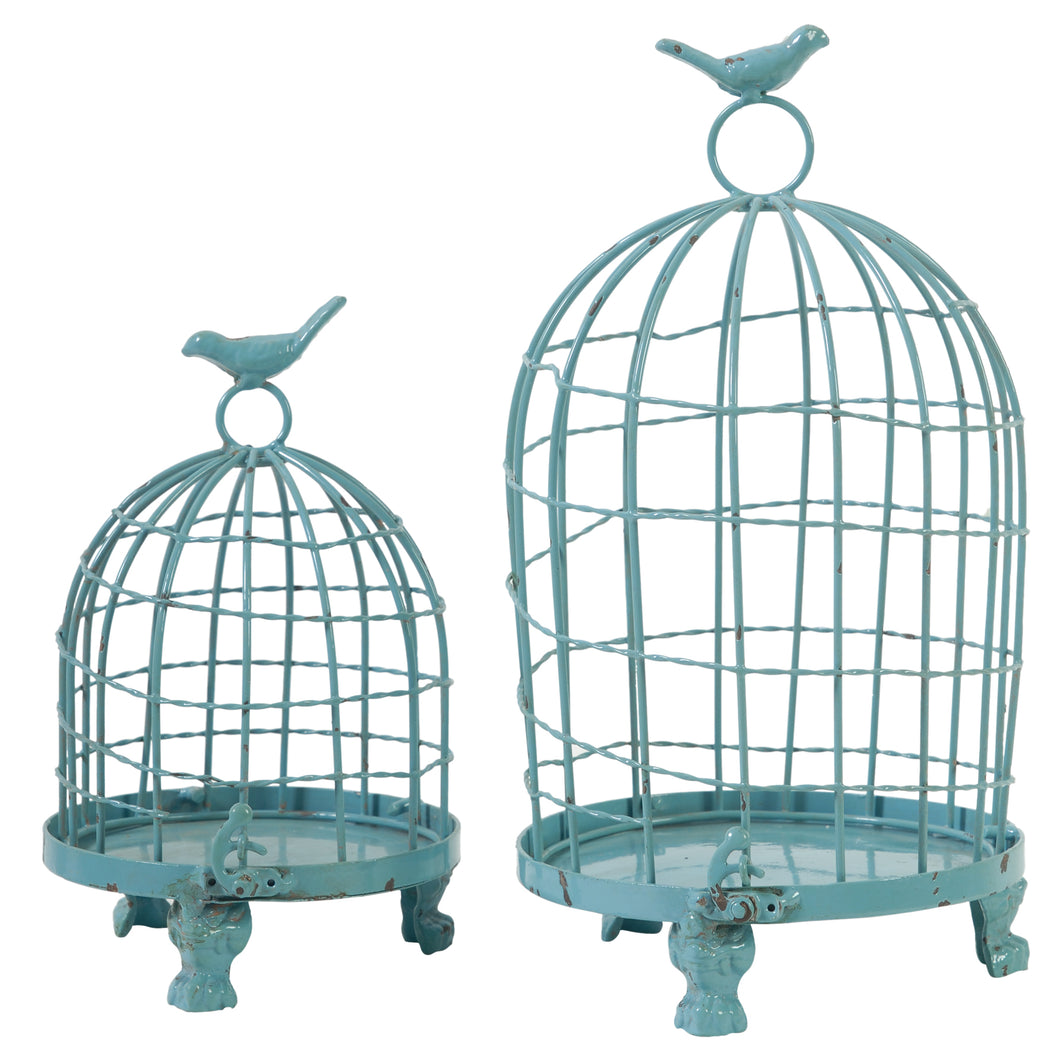 Birdcages with Bird Finial