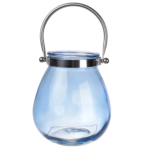Effie Candle Lantern Blue