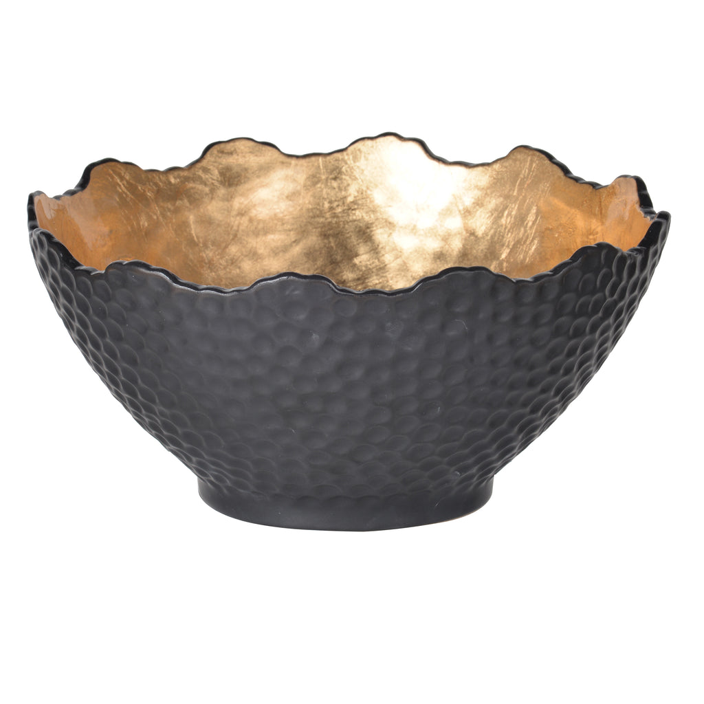 Black Dimpled Bowl