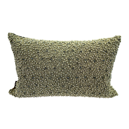 Pillow (Beaded Silver Pellet Pillow - C-104)