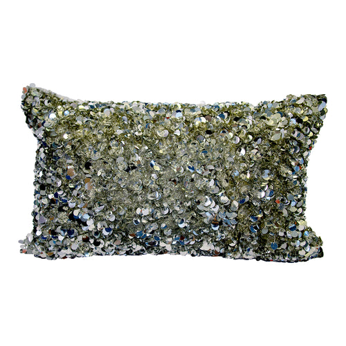 Pillow (Beaded Silver Pillow - C-105)