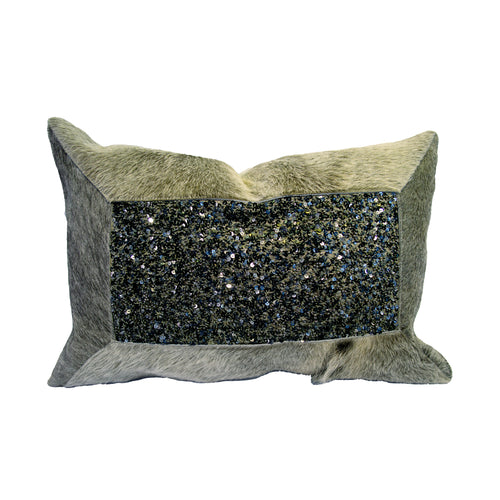 Pillow (Beaded Leather Horsehair Pillow - P-101)