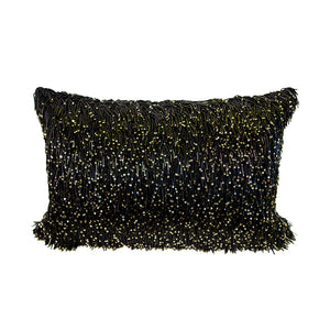Pillow (Beaded Black Pillow - P-103)